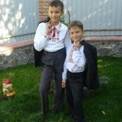 Вадим Присяжнюк, 13 р. та Денис Присяжнюк, 6 р.