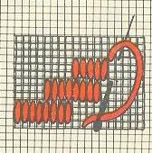 Мал. 58. Схема вишивання качалоками