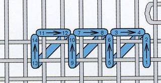 """Мал. 66. Схема мережки """"одинарний прутик"""""""
