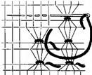 Рис. 67. Виконання складної мережки на основі одинарного прутика