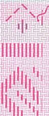 Рис. 6. Техніка вишивання низинкою