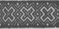"""Рис. 7. Лицьова і виворітна сторони орнаменту, виконаного швом """"низинка"""""""
