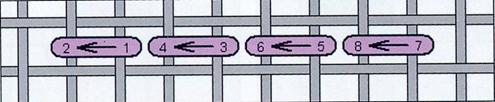 """Рис. 9. Схема виконання шва """"за голку"""""""